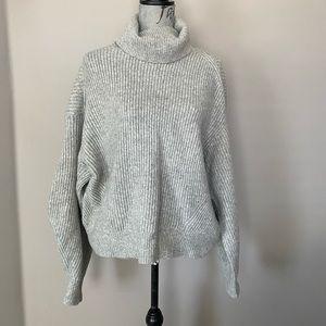 H&M chunky knit soft oversized turtle neck